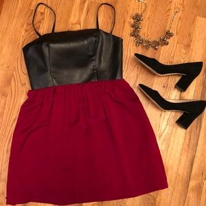 Kenzie Leatherette Dress